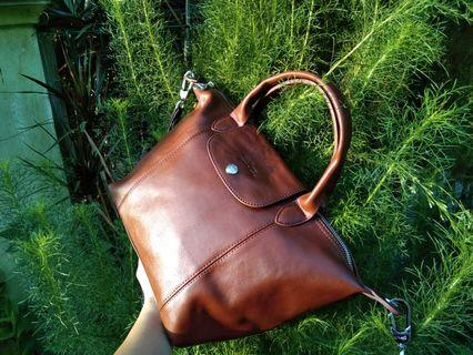 Longchamp cuir small authentic