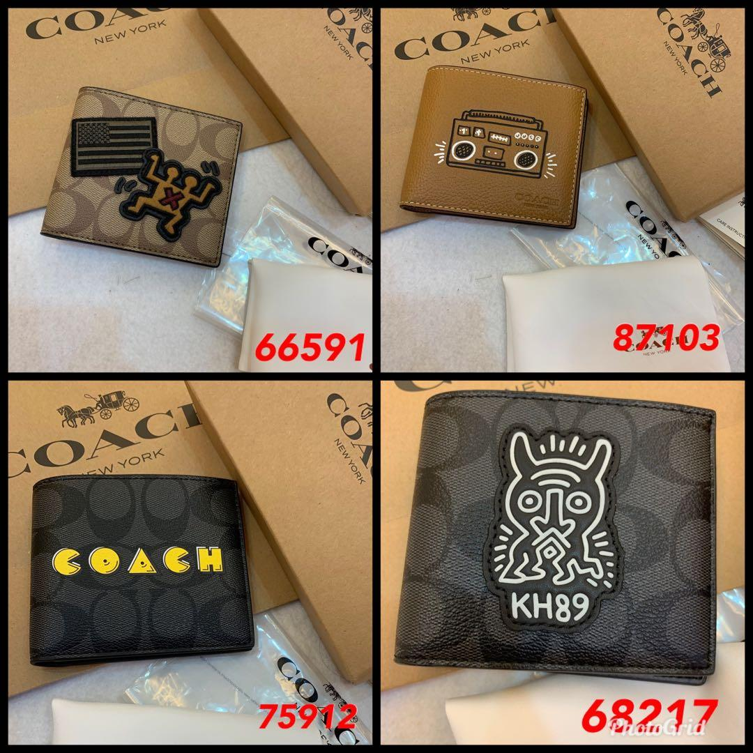 (17/11/19)Ready Stock Authentic coach men bag listing belt wallet clutch backpack laptop bag money clips messenger iPhone bag permanent listing