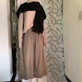 日本🇯🇵 棉質九分寬褲