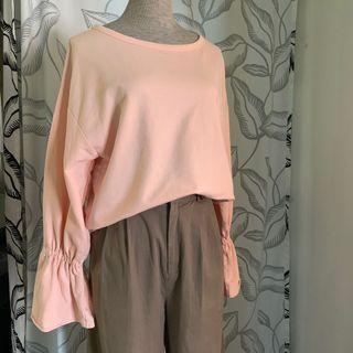 粉色 寬鬆上衣