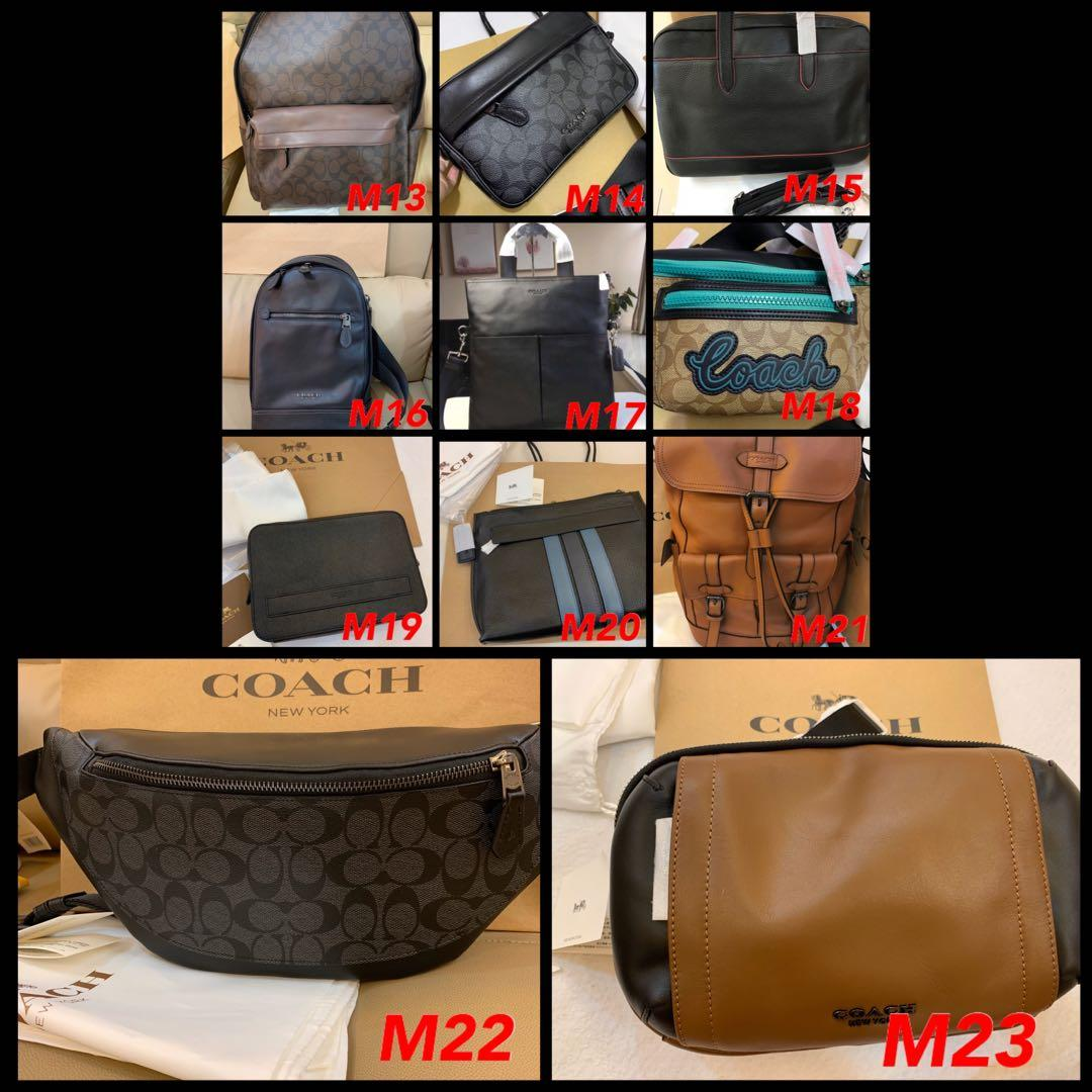 (17/11/19)Ready Stock authentic coach men walk purse clutch wristlet crossbody bag leather belt backpack office bag purse gbb