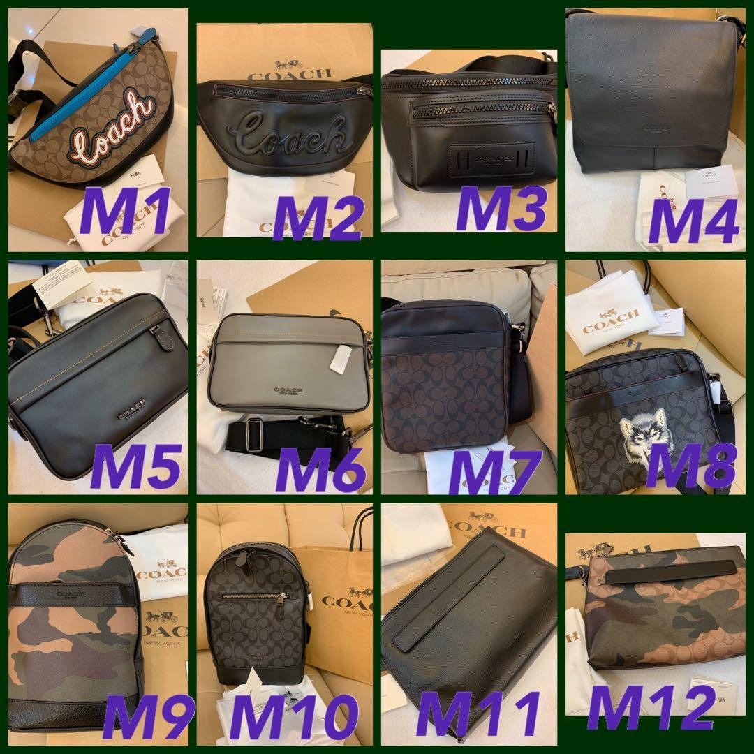 (17/11/19)Ready Stock authentic coach men walk purse clutch wristlet crossbody bag leather belt backpack office bag purse gbb