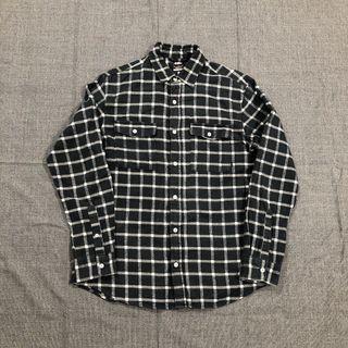 Nike 黑白格紋襯衫(L)