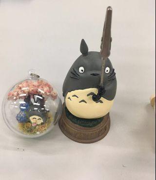 正品-龍貓座便條夾#送龍貓球吊飾