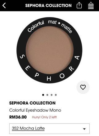 sephora eye shadow mocha latte