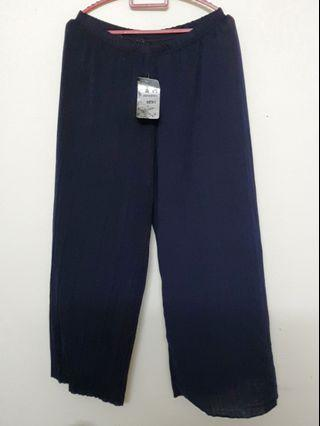 Pleated blue pants PLUS SIZE