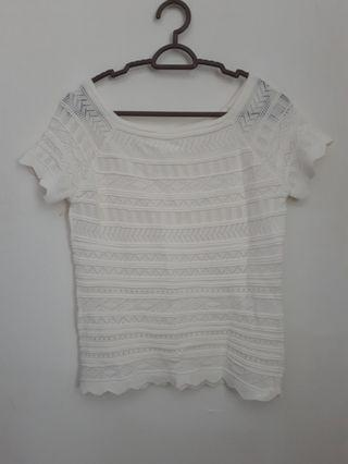 Plain knitted top