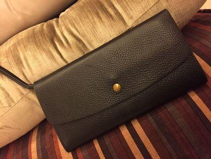 Fossil Long Leather Wallet / Clutch Wristlet
