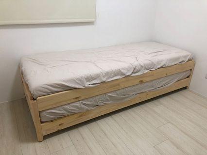 全新 ikea 疊床 含床墊*2 床包*2 保潔墊*1