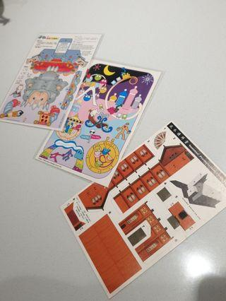 組合立體明信片(購買賣場物品,就可送)