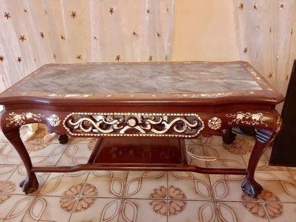 Antique Chinese marble coffee table