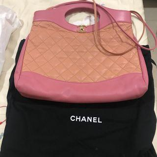 Chanel Fall/Winter 2018  香奈兒31包 稀有顏色 香奈兒 RARE Chanel 31 Large Shopping Tote in Pink Beige