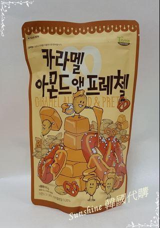 現貨 韓國 湯姆農場 Toms Gilim 焦糖杏仁果 蝴蝶圈 210g