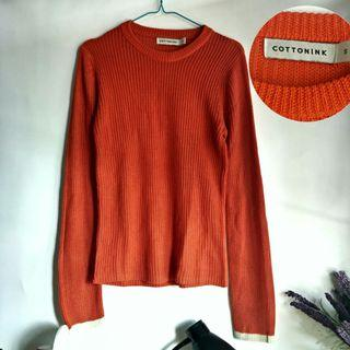 Cotton ink sweater rajut knit knitwear sweatshirt
