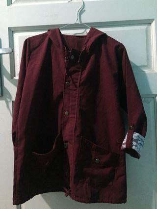 #1111special NEW Parka Merah Maroon Jaket kupluk all size