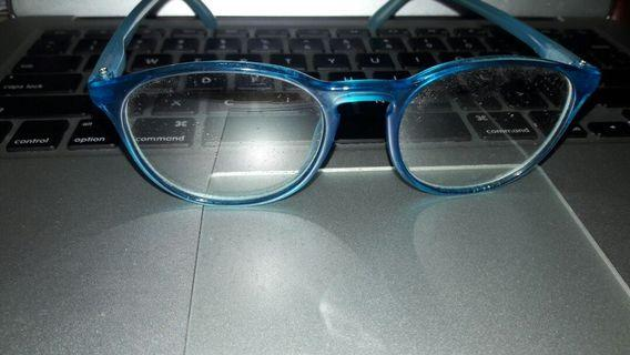 Frame Kacamata Wanita Biru Lensa Biasa/ Frame Blue Woman eyeglasses without minus lens