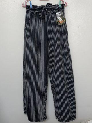 Stripe black pants