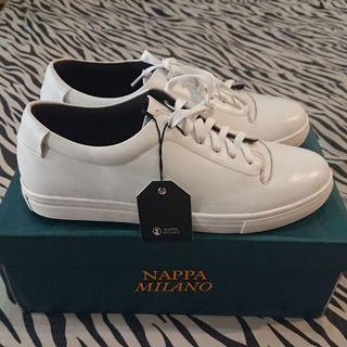 Nappa Milano Foster Classic White Leather Sneakers