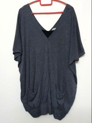 Super Plus Size grey Top
