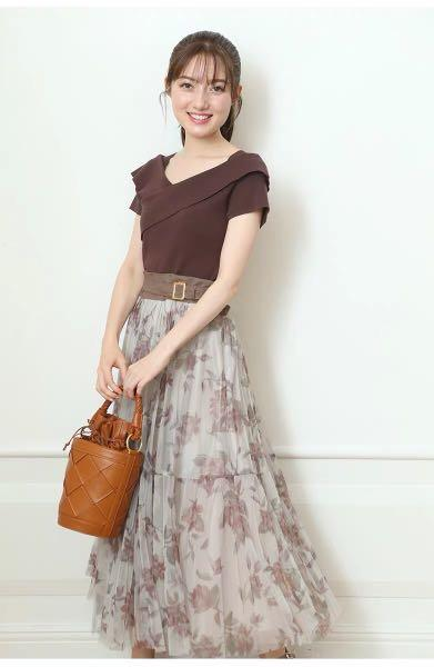 2ways🍀日系交叉蝴蝶結針織上衣 Japan front back wrap tie up bow ribbon knit top brown top 2ways top