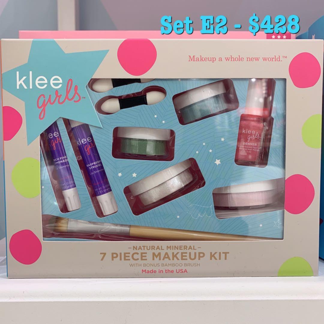 🎁閃粉+指甲油禮盒🎁兒童專屬天然礦物彩妝.可撕除指甲油
