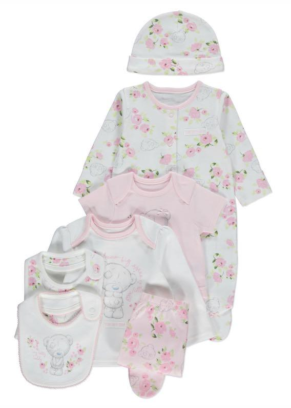 英國代購 Tatty Teddy 嬰兒套裝 一set七件 bb衫 長袖