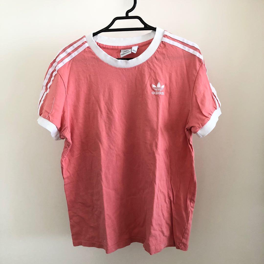 adidas Originals 3-Stripes California T-Shirt Pink