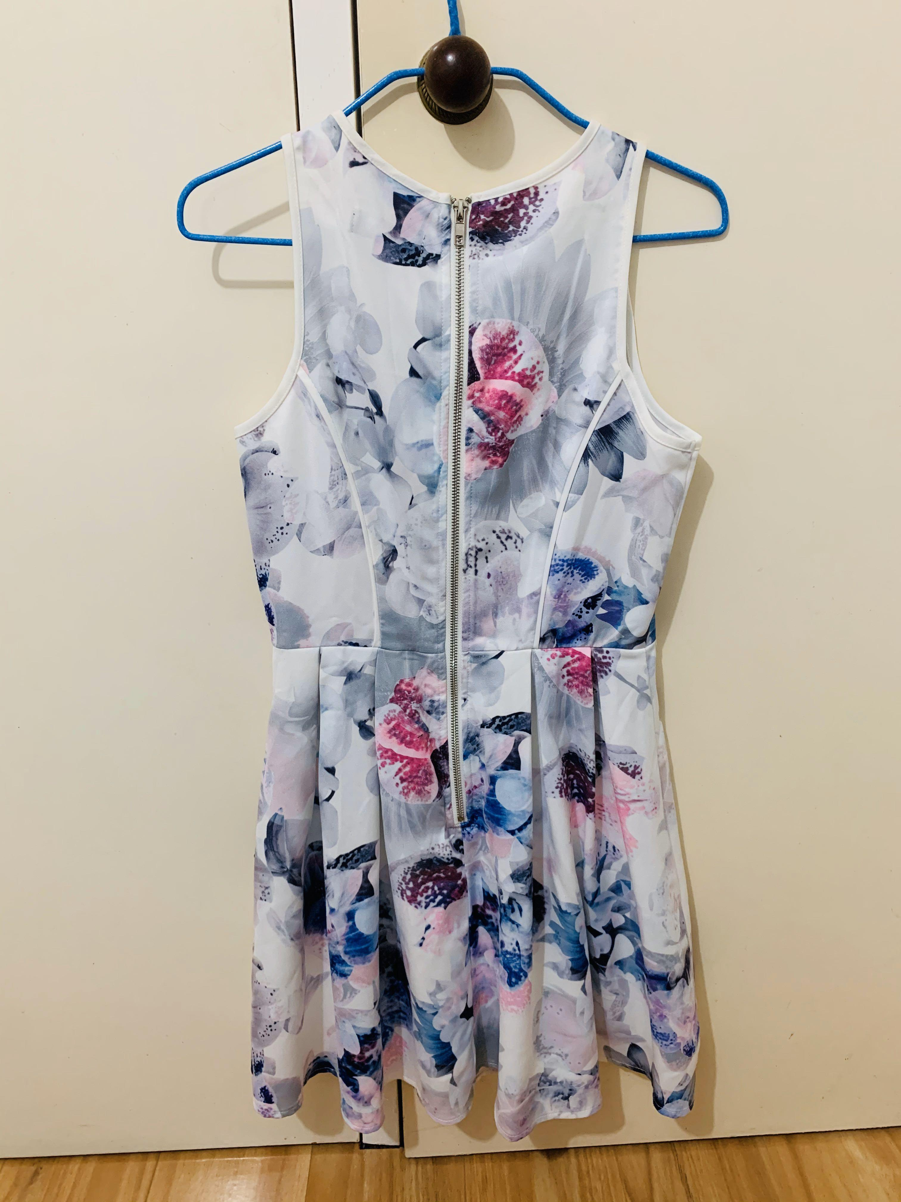 Ally Pretty Floral Skater Dress, Brand New, Size 6 AU
