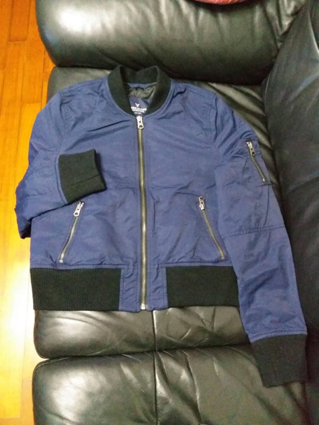American eagle outfitters padded bomber jacket ~ Navy color