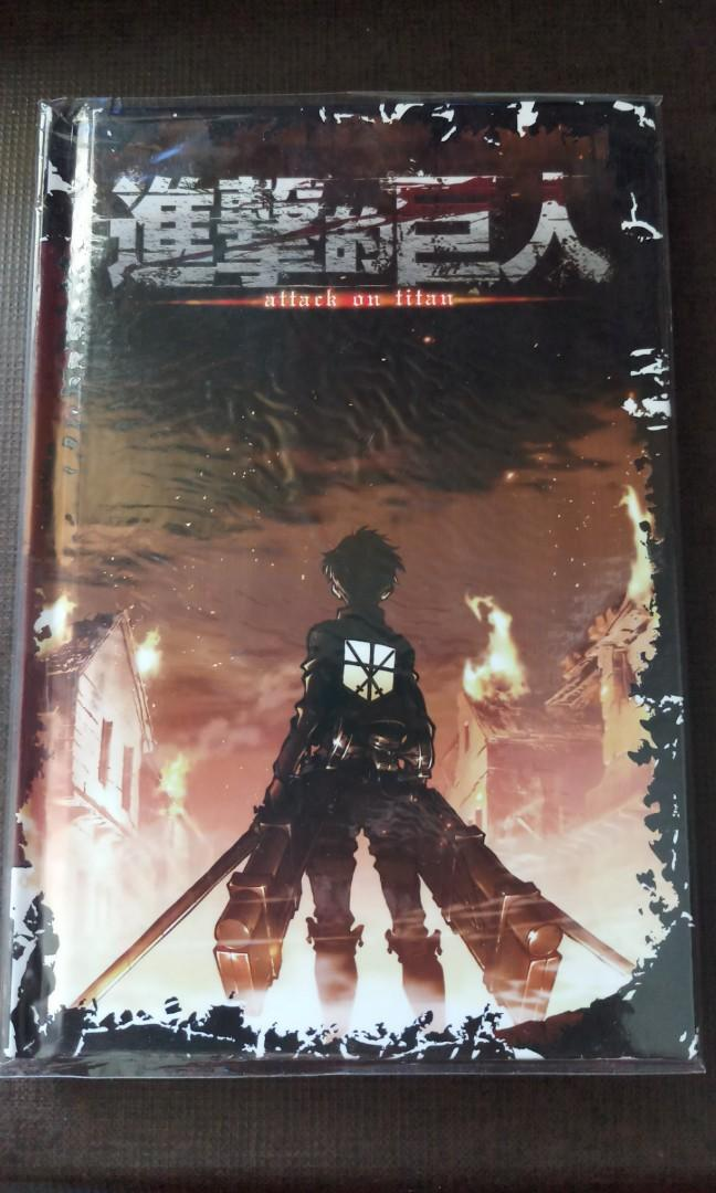 Anime Notebook Shingeki No Kyojin Attack On Titan Official Hard Cover Notebook Entertainment J Pop On Carousell