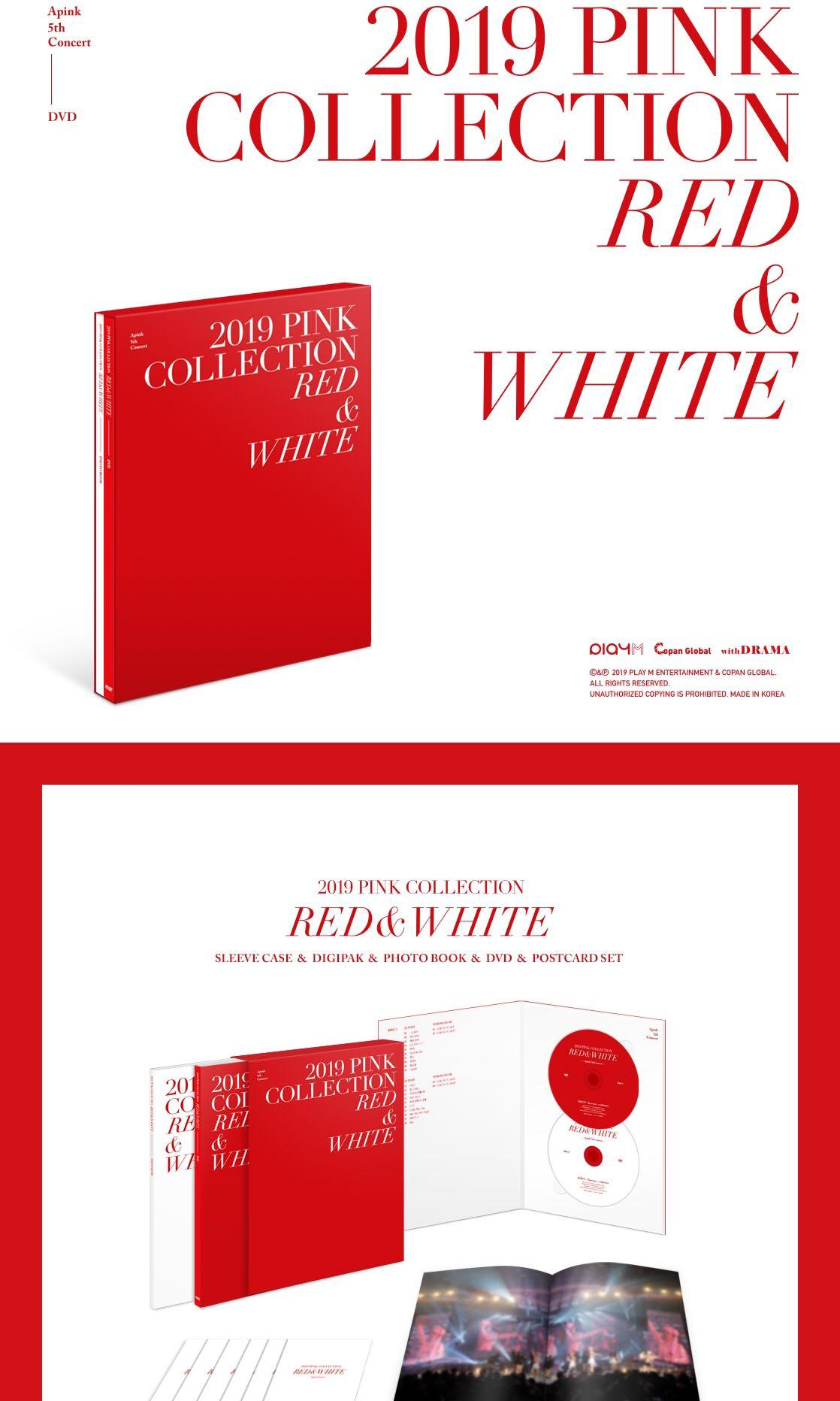 APINK - 5th Concert Pink Collection (Red & White) DVD