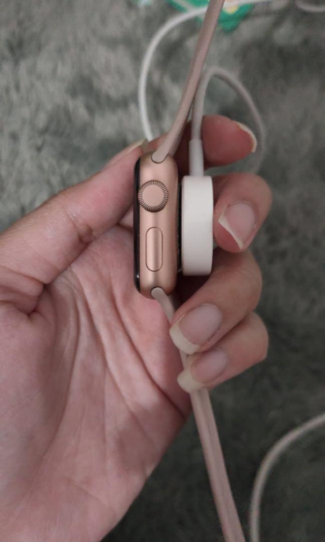 Apple Watch Series 3  Pink Iwatch Fullbox + Lengkap struk pembelian
