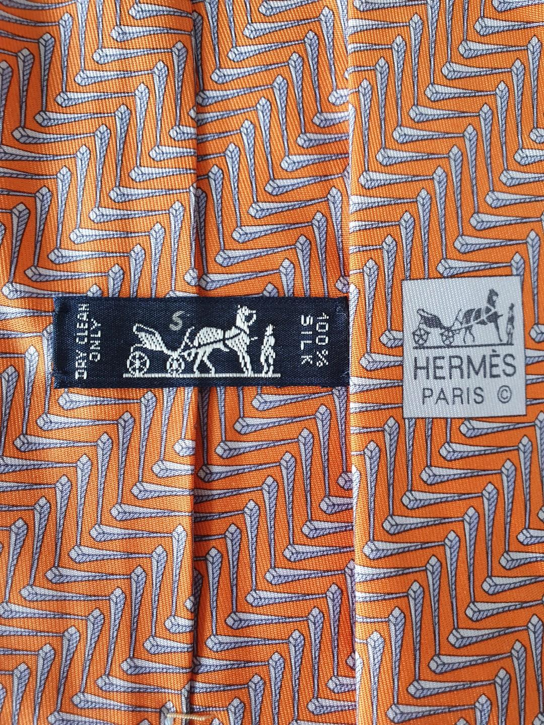 Two Authentic Hermes Tie for $88