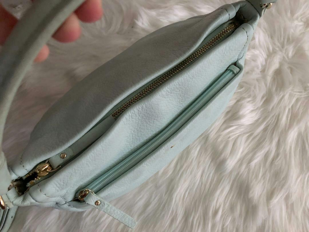 AUTHENTIC KATE SPADE LEATHER TOTE BAG , WITH LONG STRAP FOR CROSSBODY SLING - CLEAN INTERIOR , OVERALL GOOD