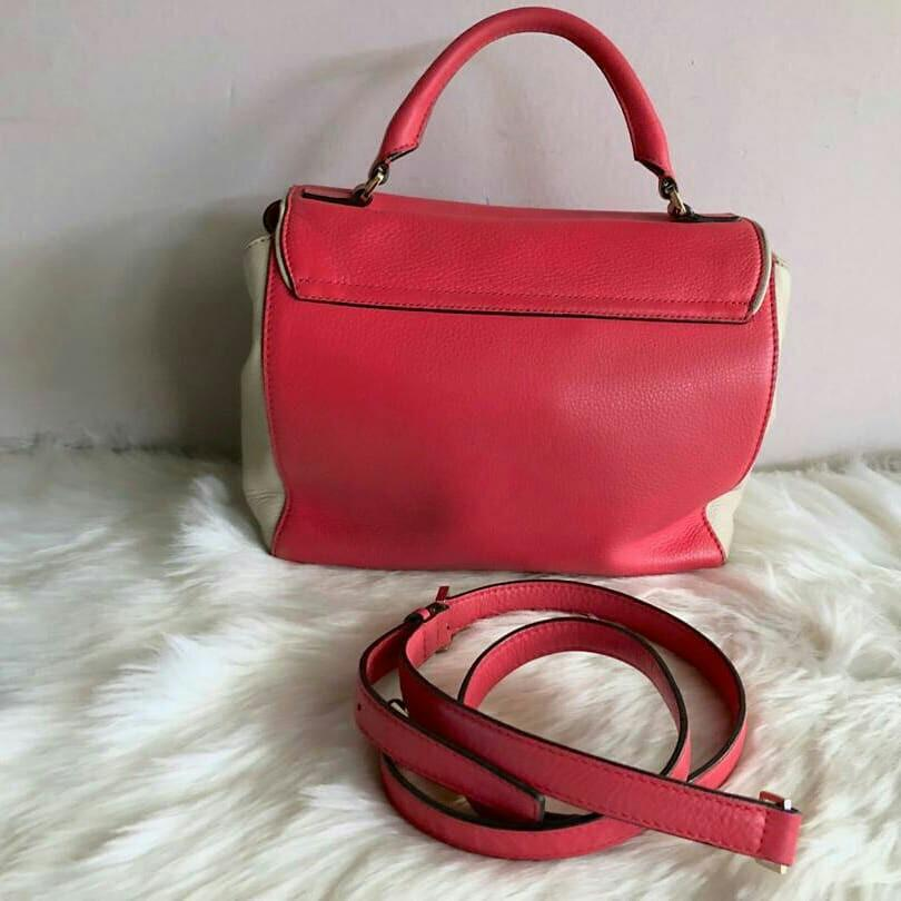 AUTHENTIC KATE SPADE LEATHER TOTE BAG, WITH ITS ORIGINAL LONG STRAP FOR CROSSBODY SLING - CLEAN INTERIOR , OVERALL GOOD -