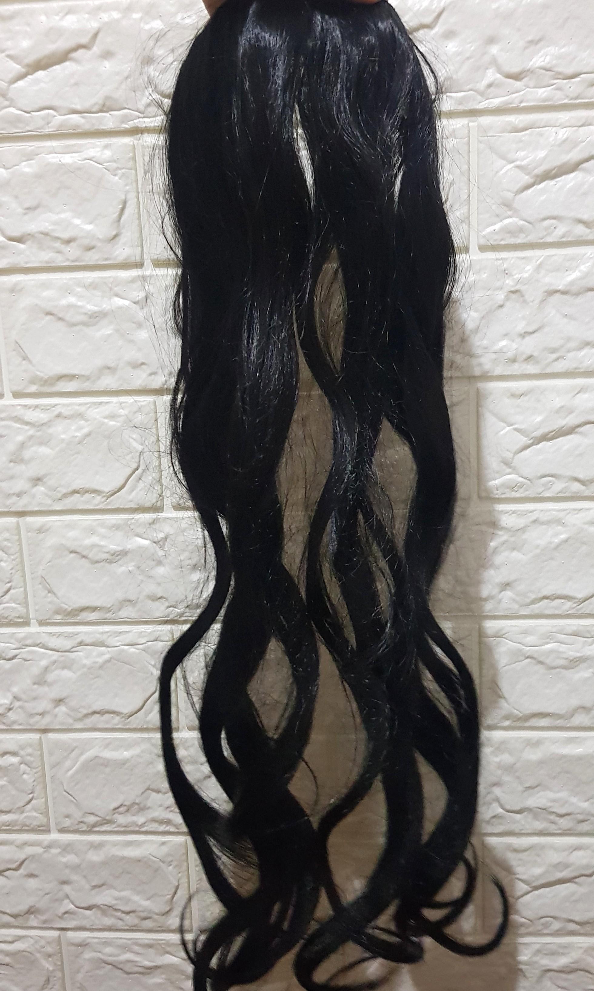 Black Long Curly Hairclip