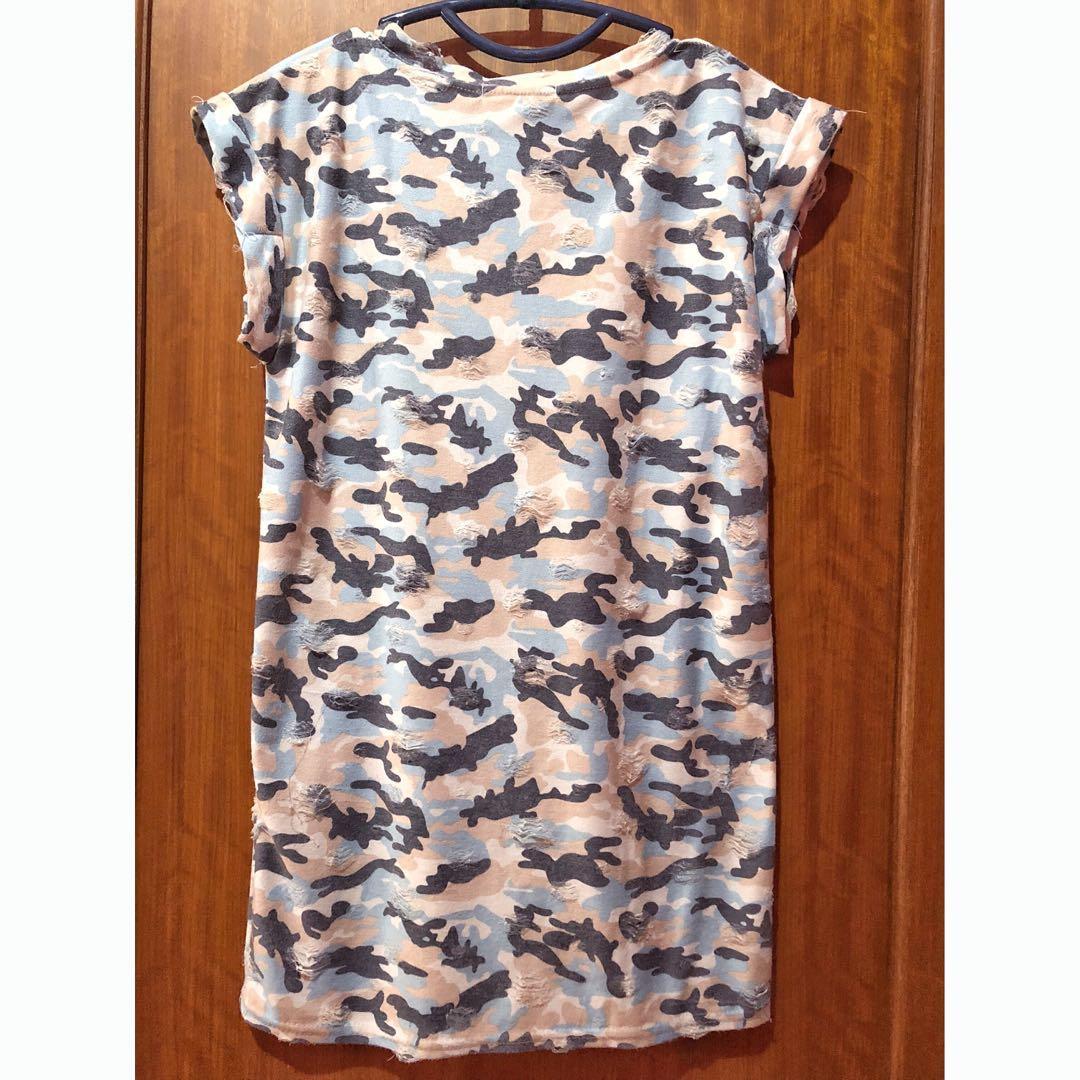 Blue Army Dress/Top