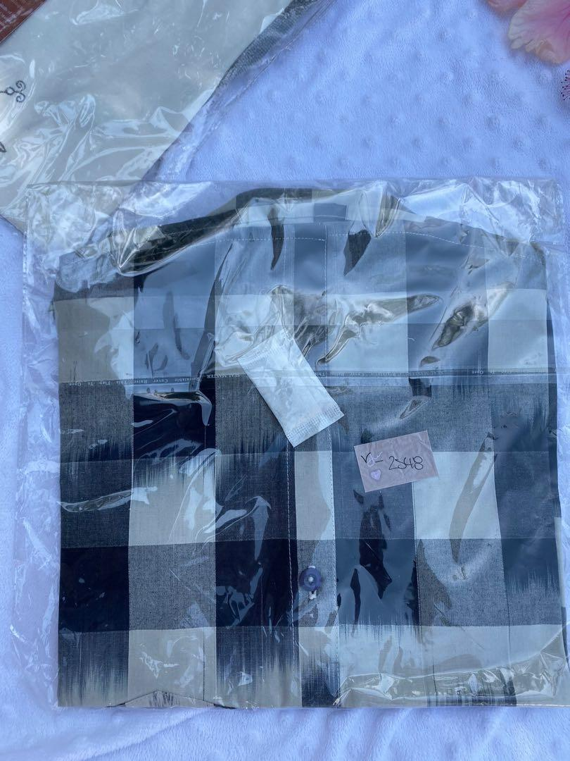 Brand New Boys Size 7 Collared Shirt Dress Shirt Check