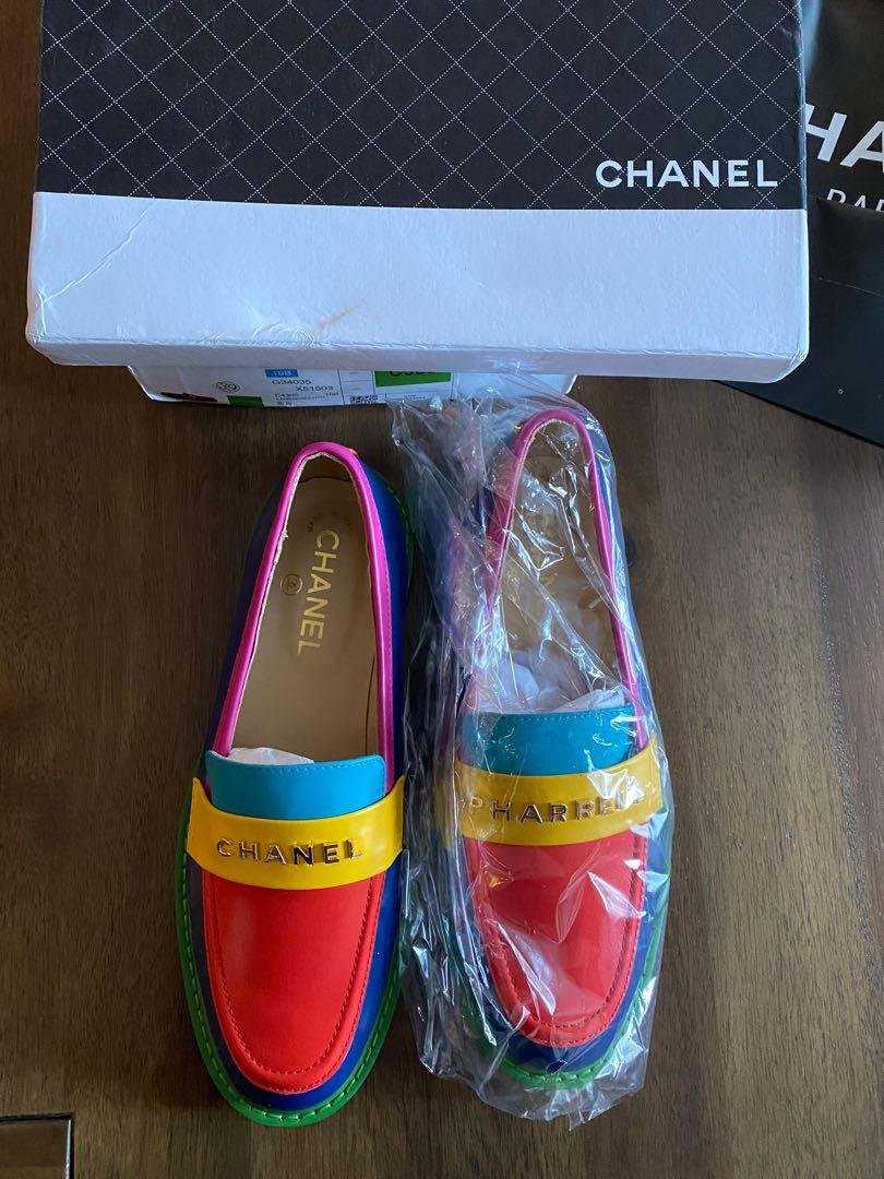 Brand new Chanel Pharrell Williams colourful loafers