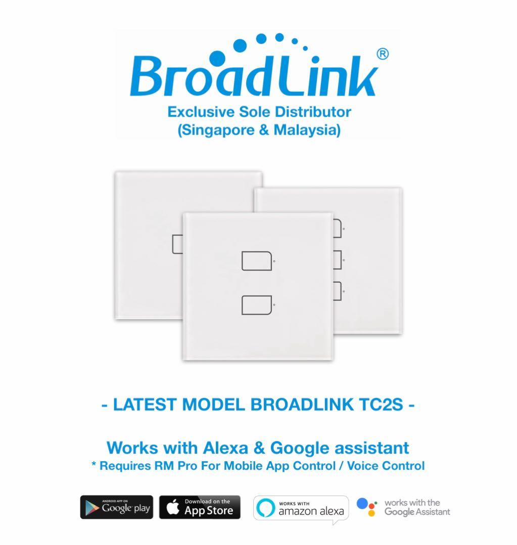 Broadlink TC2S Smart Light Switch - Smart Home Automation