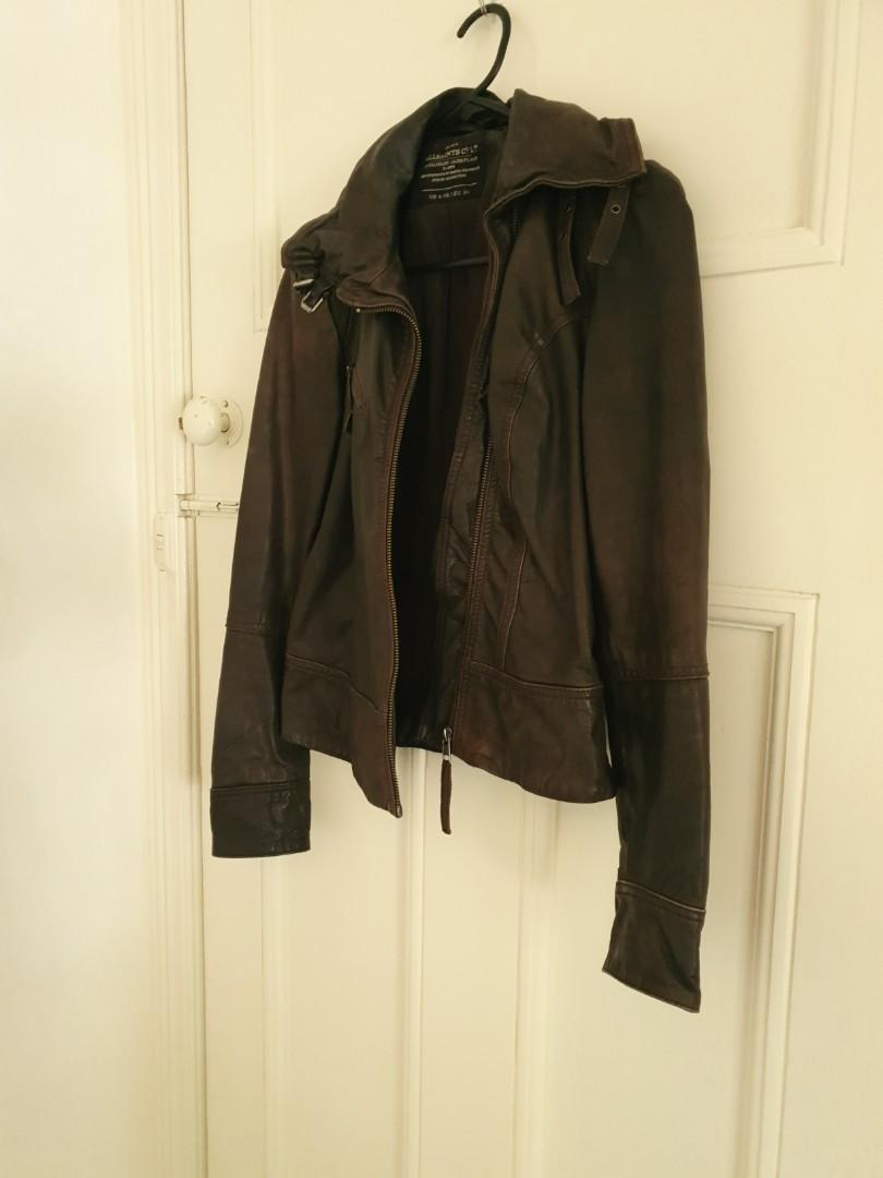 Brown Leather Jacket (All Saints)