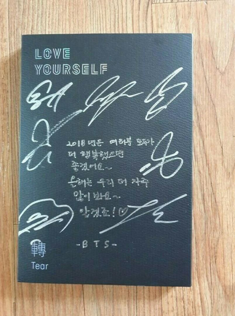 BTS Promo Love Yourself Tear Album Autographed Hand Signed Type A Message