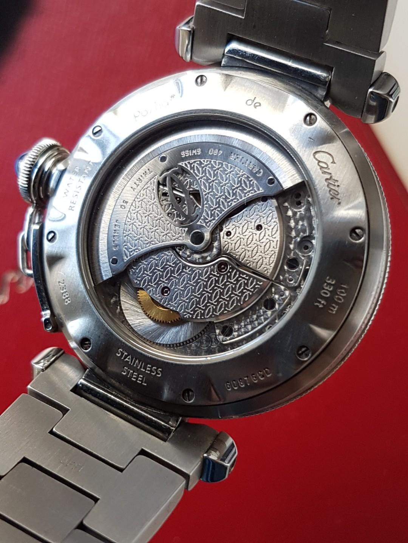 Cartier PASHA power Reserve GMT 38mm 卡地亞自動日曆,兩地時間能量儲備顯示男庒手錶