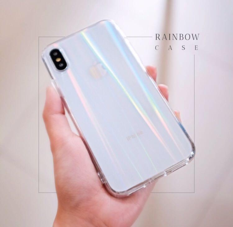 Case rainbow silicon softcase Iphone,xiaomi,oppo