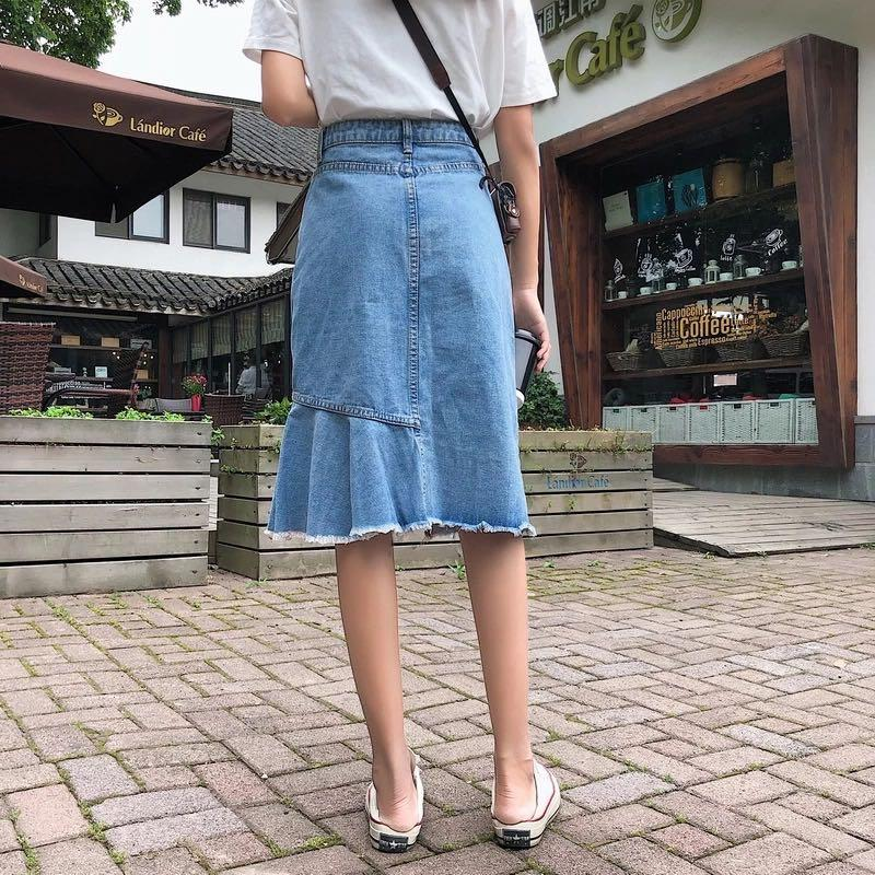 Clarissa Denim Mermaid Skirt