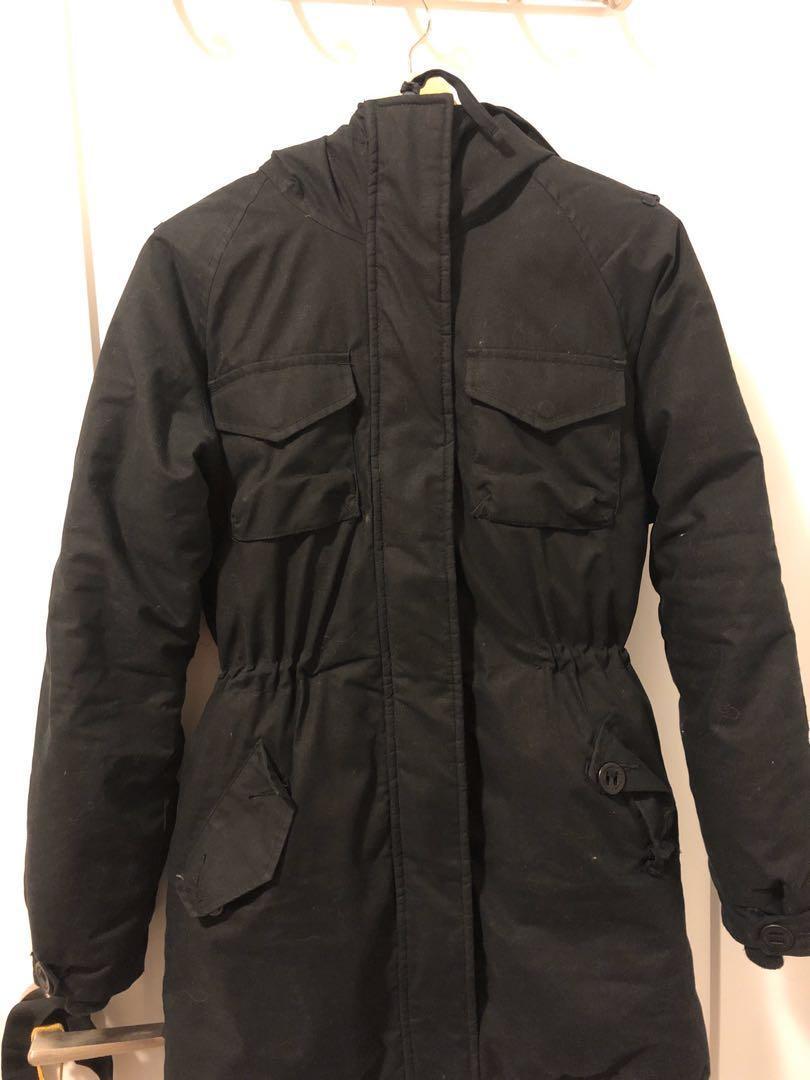 Community Aritzia Black Winter Jacket PARADIGM Parka XXS