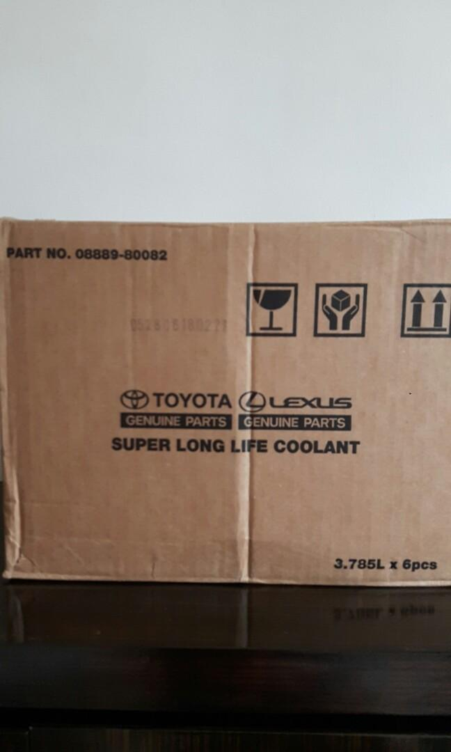 Genuine Toyota Super Long Life Coolant (Yellow Cap) (08889-80082) (3.785 litre)