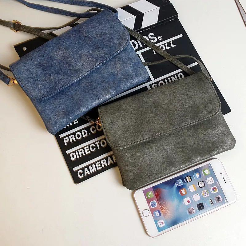 Envelope Flip Leather Sling Bag