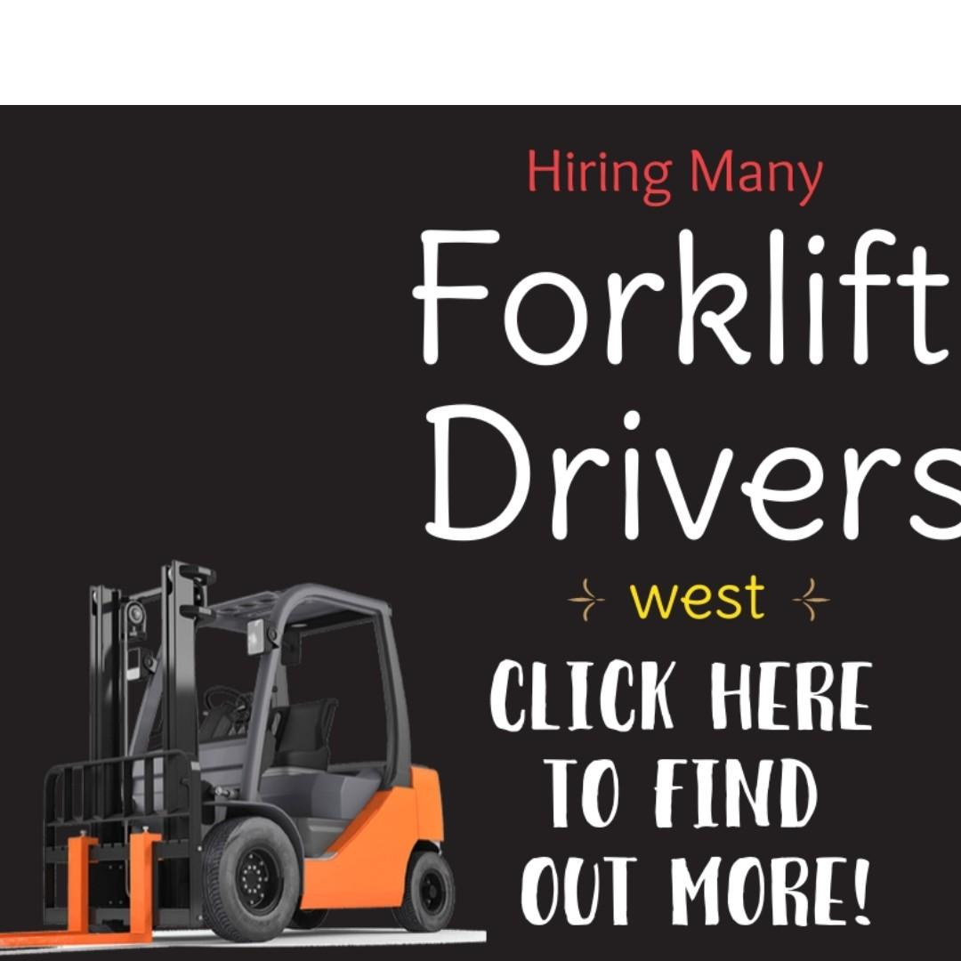 Forklift Driver @ West (Transport Provided | Fast Hire) - RT