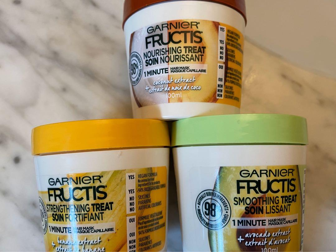 Garnier hair masks